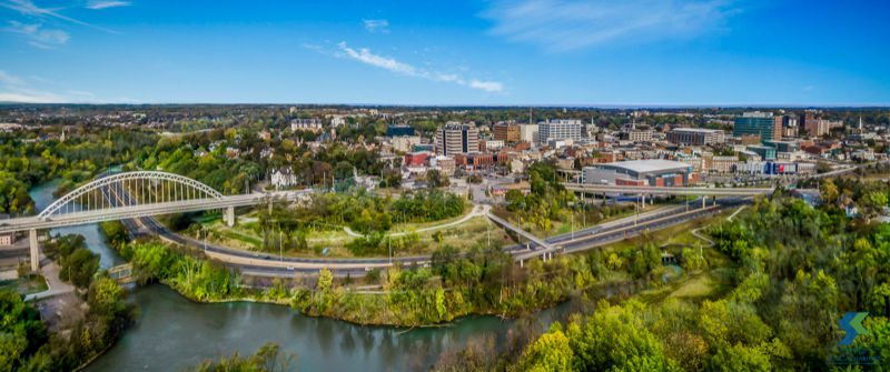 St. Catharines Downtown and River
