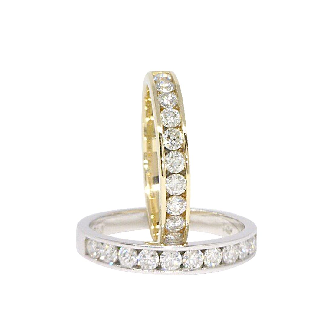 Diamond Channel-Set Eternity Ring