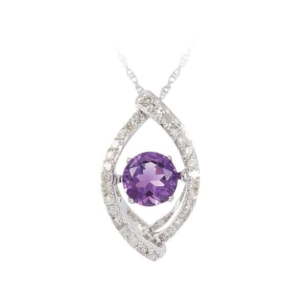 Dancing diamond and gemstone pendant