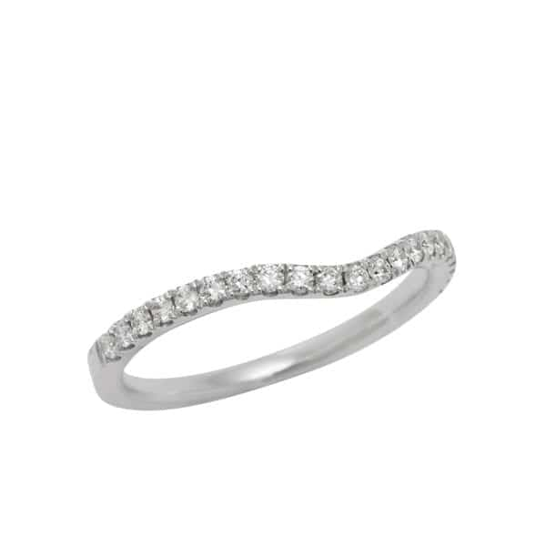Diamond Curved Engagement Band