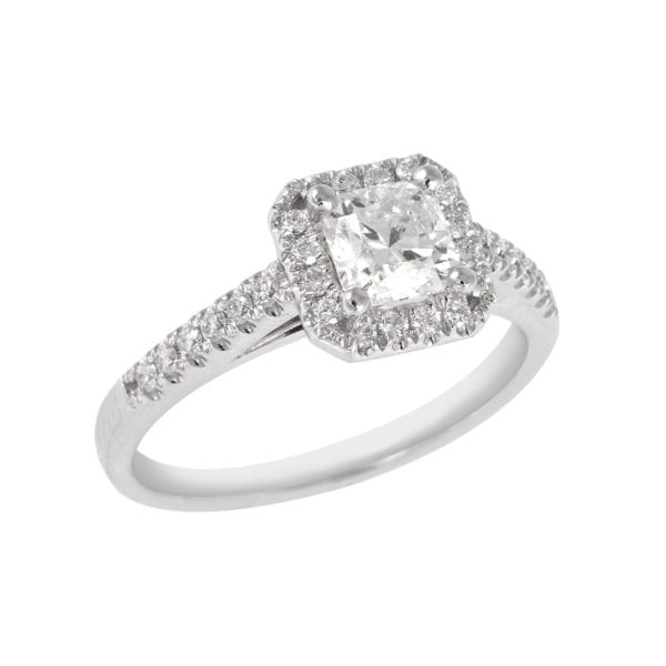 Hearts and Arrows Diamond Engagement Ring