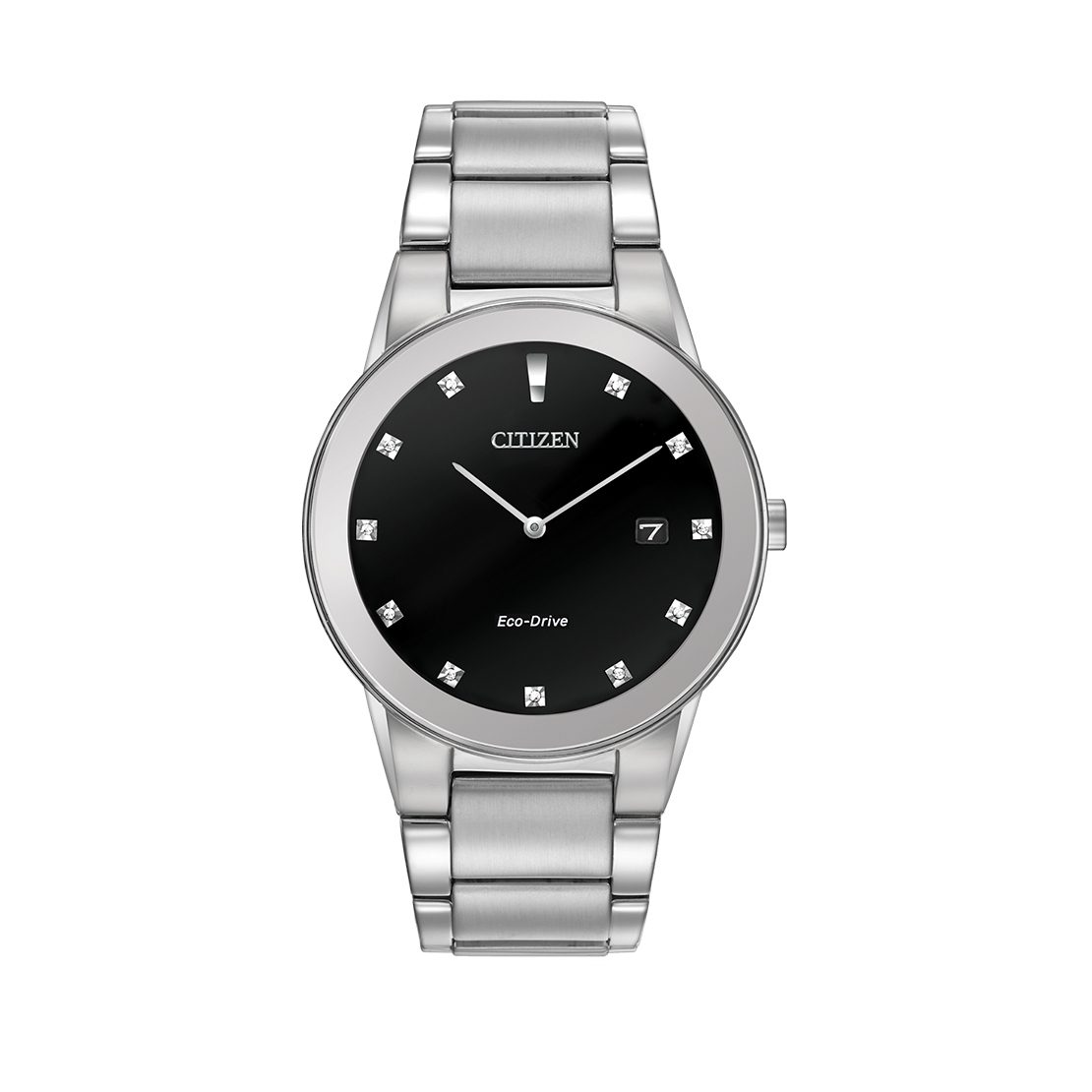 Men's Citizen Watch stainless steel with black dial