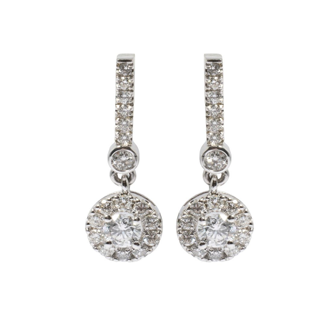 White gold and diamond earrings