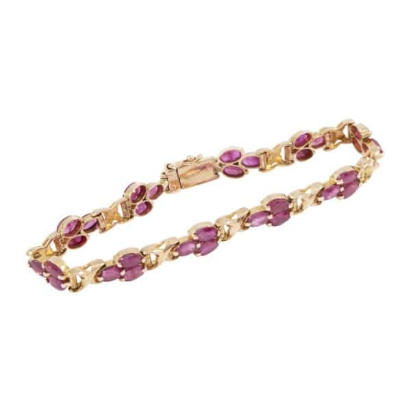 Rose Gold Ruby Tennis Bracelet
