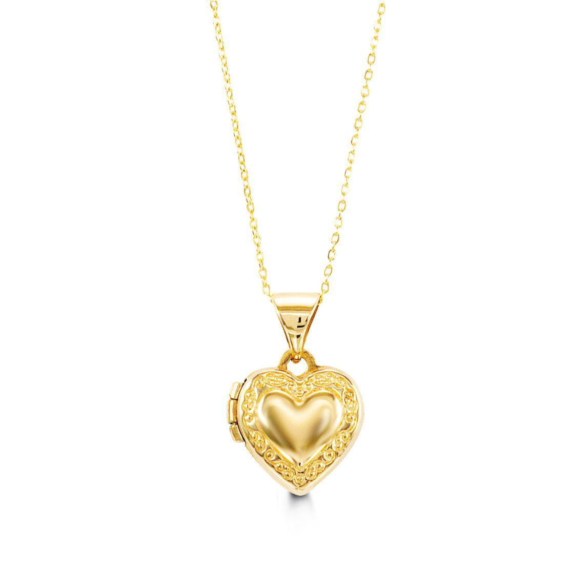 Yellow Gold Locket and Chain